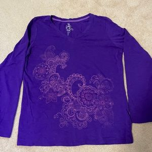 JC penny made for life long sleeve top